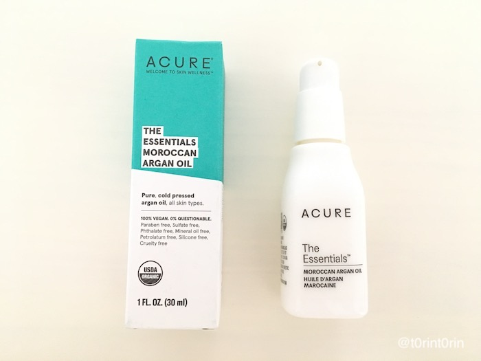 Acure, The Essentials モロッコ産アルガンオイル