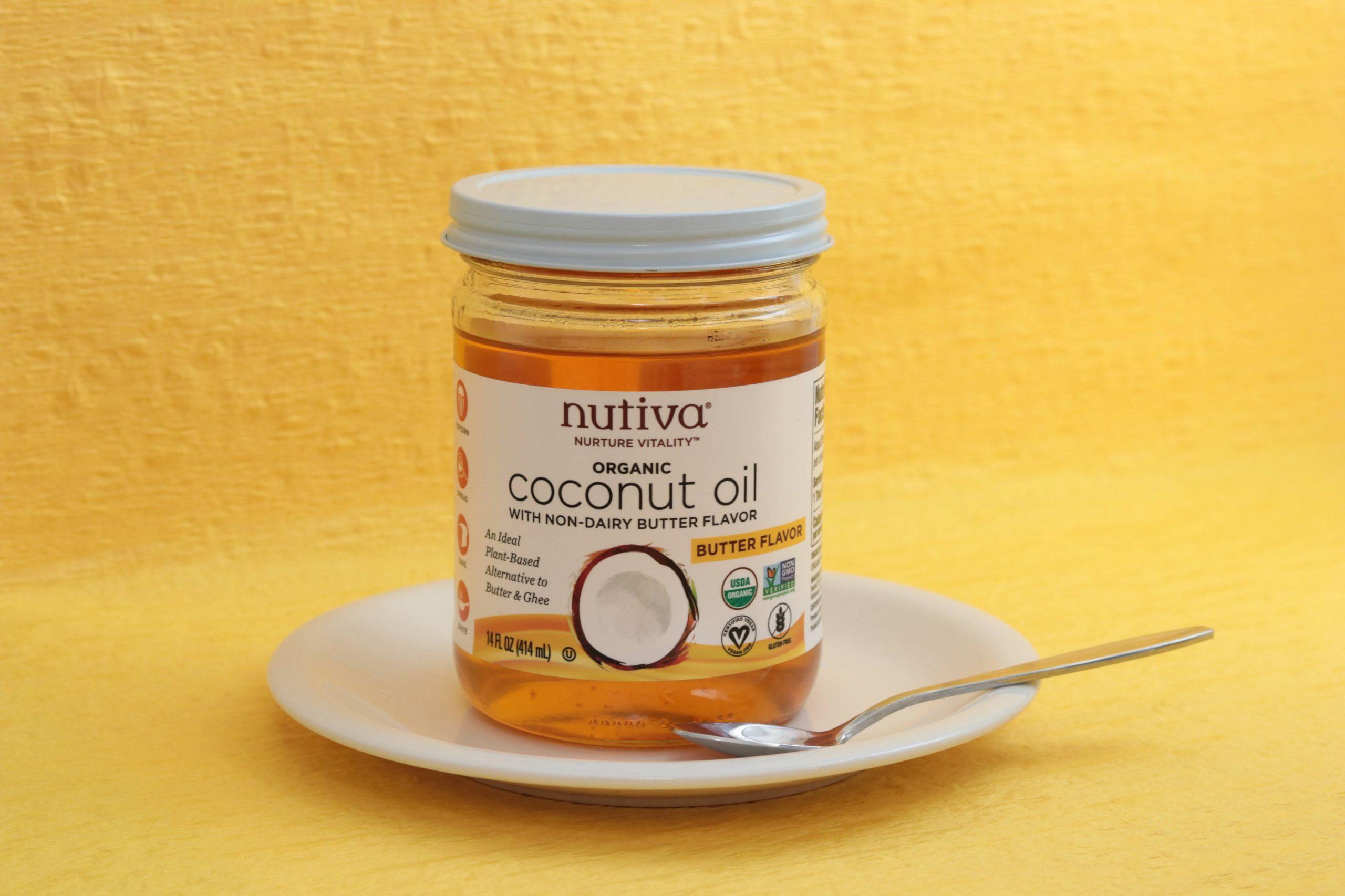 Nutiva, オーガニックココナッツオイル、バターフレーバー